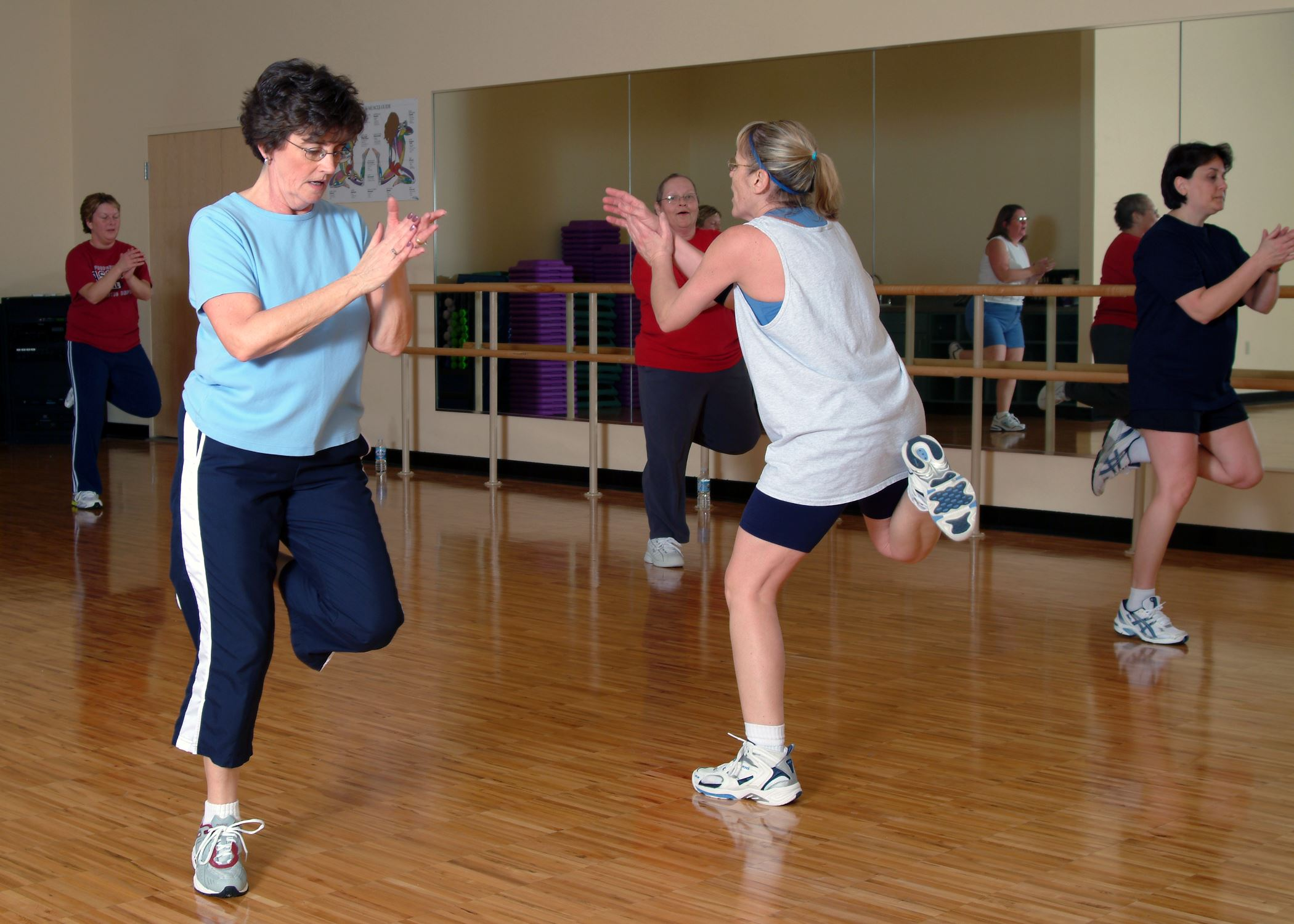 Women exercising together in the Recreation Center's Group Fitness Studio.
